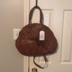 Pecan brown Jessica Simpson leather satchel